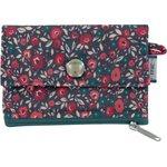 zipper pouch card purse camelias rubis - PPMC