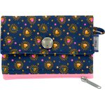 zipper pouch card purse glittering heart - PPMC