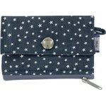 zipper pouch card purse etoile argent jean - PPMC