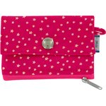 zipper pouch card purse fuchsia gold star - PPMC