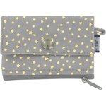 zipper pouch card purse etoile or gris - PPMC