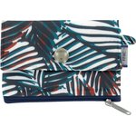 zipper pouch card purse feuillage marine - PPMC