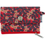 zipper pouch card purse vermilion foliage - PPMC