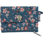 zipper pouch card purse fleuri nude ardoise - PPMC