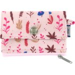 Mini pochette porte-monnaie herbier rose - PPMC