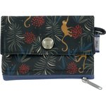 zipper pouch card purse jungle party - PPMC