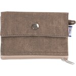 zipper pouch card purse copper linen - PPMC