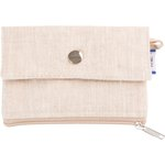 zipper pouch card purse  glitter linen - PPMC