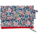 zipper pouch card purse flowered london - PPMC
