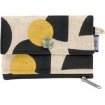 zipper pouch card purse golden moon - PPMC
