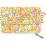 zipper pouch card purse mimosa jaune rose - PPMC