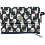 zipper pouch card purse black-headed gulls - PPMC