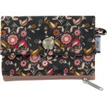 zipper pouch card purse ochre bird - PPMC