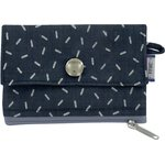zipper pouch card purse silver straw jeans - PPMC
