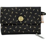 zipper pouch card purse golden straw - PPMC