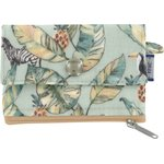 zipper pouch card purse paradizoo mint - PPMC