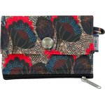 zipper pouch card purse royal poppy - PPMC