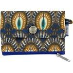 zipper pouch card purse plumes de paon - PPMC