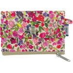zipper pouch card purse purple meadow - PPMC