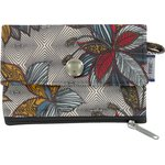 zipper pouch card purse wax fleuri - PPMC