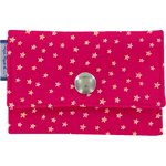 Multi card holder fuchsia gold star - PPMC
