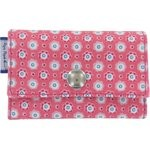 Multi card holder small flowers pink blusher - PPMC