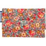 Porte multi-cartes floral pêche - PPMC