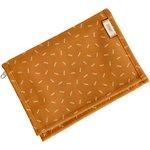Compact wallet caramel golden straw - PPMC