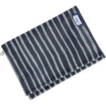 Compact wallet striped silver dark blue - PPMC