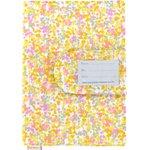 Protège carnet de santé mimosa jaune rose - PPMC