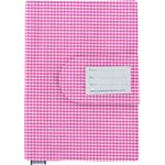 Health book cover fuschia gingham - PPMC