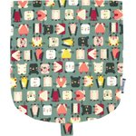 Flap of small shoulder bag animals cube - PPMC