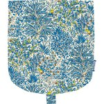 Flap of small shoulder bag blue forest - PPMC