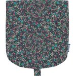 Flap of small shoulder bag green azure flower - PPMC