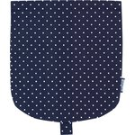 Flap of small shoulder bag navy blue spots - PPMC