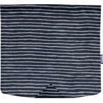 Square flap of saddle bag  striped silver dark blue - PPMC