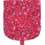 Flap of small shoulder bag cherry cornflower - PPMC