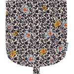 Flap of small shoulder bag ochre flower - PPMC