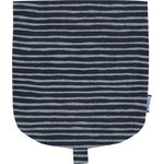 Flap of small shoulder bag striped silver dark blue - PPMC