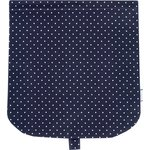 Flap of saddle bag navy blue spots - PPMC