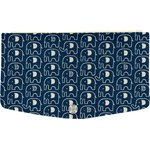 Flap of fashion wallet purse blue elephant - PPMC