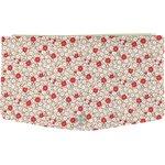 Rabat-Compagnon portefeuille fleurette rouge - PPMC