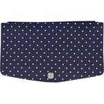 Flap of fashion wallet purse navy blue spots - PPMC