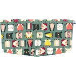 Flap of shoulder bag animals cube - PPMC