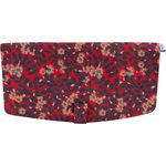 Flap of shoulder bag vermilion foliage - PPMC