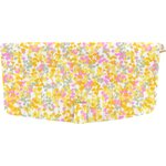 Flap of shoulder bag mimosa jaune rose - PPMC