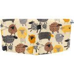 Flap of shoulder bag yellow sheep - PPMC
