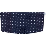 Flap of shoulder bag navy blue spots - PPMC