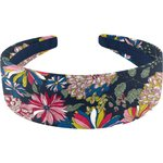 Wide headband pink blue dalhia - PPMC
