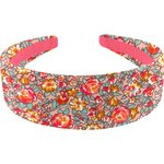 Wide headband peach flower - PPMC